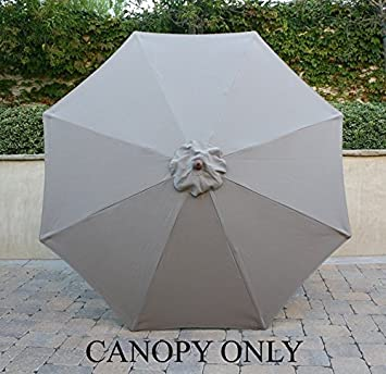 9ft Market Umbrella Replacement Canopy 8 Ribs Taupe (Canopy Only) & Amazon.com : 9ft Market Umbrella Replacement Canopy 8 Ribs Taupe ...