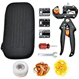 Mexyord Garden Grafting Pruning Pruner Tool Kit, Professional Scion Wood Cutting and Grafting Tool Set with  1 Grafting Tape and 2 Kinds of Rubber Bands packs