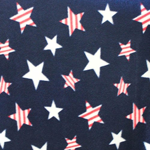 """American Stars Anti Pill Premium Fleece Fabric, 60"""" Inches Wide - Sold By The Yard"""