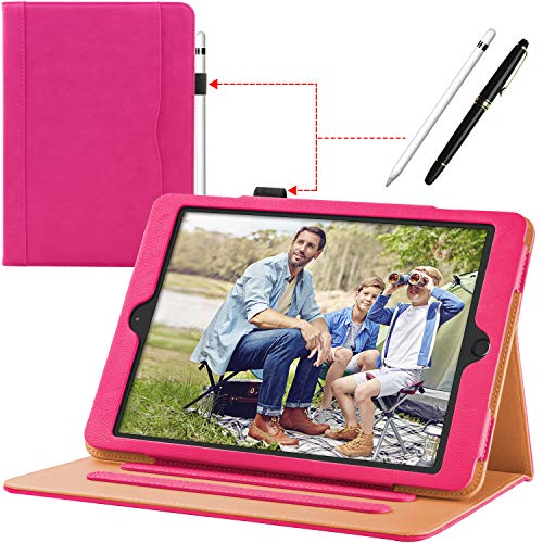New iPad 9.7 Case 2018/2017 Case 6th/5th Generation Leather Case Corner Protection, Stand Folio Girl Cover Case with Pencil Holder and Auto Wake/Sleep for Apple iPad 9.7 inch,iPad Air 2/iPad ()