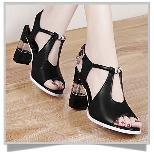 SHOESHAOGE Sandalias Zapatos De Mujer Zapatos con Tacón De Aguja con Las Mujeres. EU34/UK2-2.90