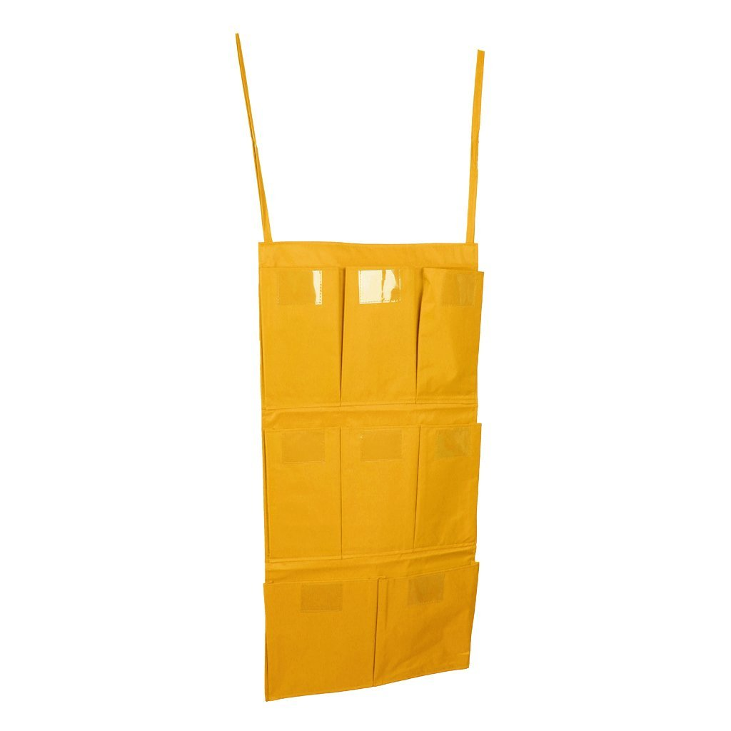 Homyl Cleaning Bag Trolley Janitorial Housekeeping Cart Hanging Bag Caddy Bag Container Yellow