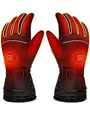Z-YQL Elektrische Batterij Verwarmingshandschoenen instelbare temperatuur voor Heren/Vrouwen, Waterdichte Warme Handschoenen voor Fietsen Motorfiets Wandelen Skiën Bergbeklimmen