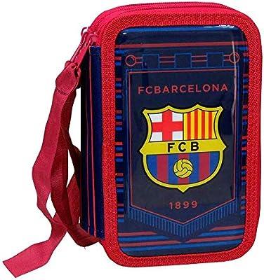Mayal Estuche plumier Triple FC. Barcelona: Amazon.es: Juguetes y juegos