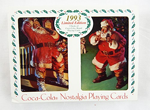 Vintage 1993 Coca Cola Nostalgia Limited Edition Santa Claus Playing Card Set and Tin