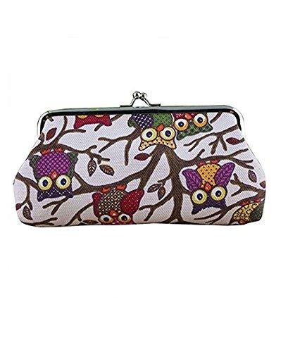 tfxwerws Lovely Owl Muster Münze Geld Tasche Brieftasche