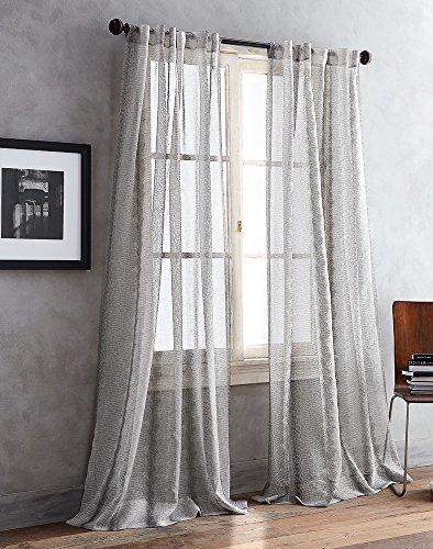 DKNY Urban Safari Sheer Curtain Panel Pair
