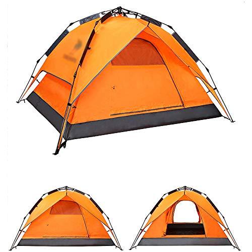 債権者マサッチョテザー屋外テント、屋外3-4人テント自動完全厚い防水キャンプ屋外テント (色 : J j)