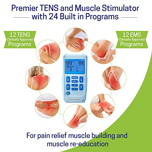 Premier Plus Rechargeable TENS Machine for Pain Relief - Combined with Muscle & Neuromuscular Simulation - 24 clinically Approved programmes by Med-Fit (Image #2)