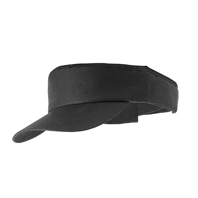 9c5fa597 SPORTS FASHION SUN VISOR HAT PEAK CAP - 6 GREAT COLOURS (MB096) (BLACK):  Amazon.co.uk: Clothing