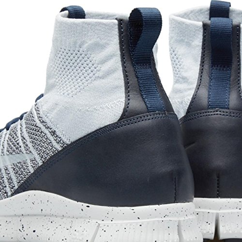 Nike Free Flyknit Kviksølvholdige Herre-running Sneakers Pr Pltnm, Smmt Wht-drk Gry-observeret