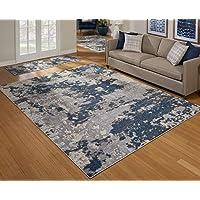 Gertmenian 81739 Mythical 3-Piece Rug Poseidon Modern Carpet, 2x6 5x7 8x10, Blue Abstract Ocean