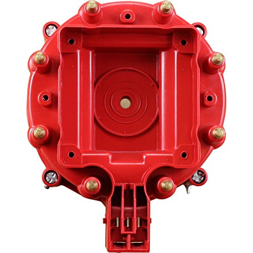 Red HEI Distributor Cap Replacement For All GM Ford V8 HEI