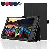 ACdream Lenovo Tab38Case, Folio Protectora de Piel Premium Funda para Tablet Lenovo Tab320,3cm Tablet (2016), de Liberación, Negro