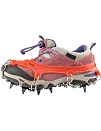 11 Teeth Ice Claws Crampons Anti Slip Traction Cleats for Kids with Carry Bag
