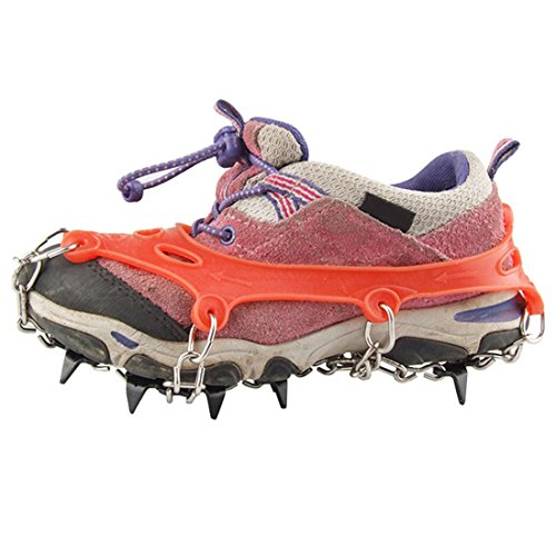 Freahap 11 Teeth Ice Claws Crampons Anti Slip Traction Cleats for Kids with Carry Bag by Freahap