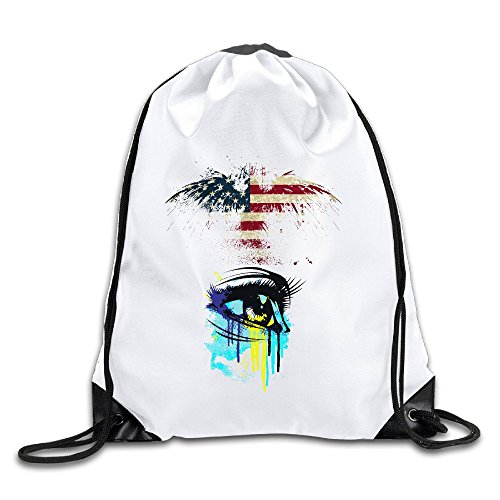 FOODE Tears Of Colors Drawstring Backpack Sack Bag (Anonymous Paintball Mask)