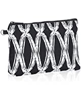 Thirty One Mini Zipper Pouch in Black Links - No Monogram - 3013
