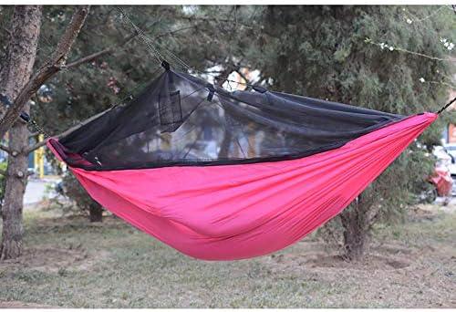QJJML hamacas terraza Exterior,Hamaca para Acampar,hamacas Jardin portátil y Ultra-Ligera, Hamaca portátil - Adecuada para Patio, Camping, Playa y terraza,Pink: Amazon.es: Hogar