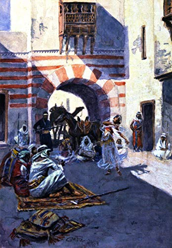 - Charles Marion Russell Street Scene in Arabia 1908 C. M. Russell Museum 30