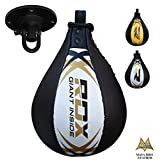 RDX Speed Ball Boxing Genuine Leather MMA Muay Thai Training Punching Dodge Striking Bag Kit Hanging Swivel Workout Speedball Kicking