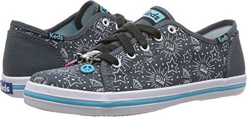 White Shoe Charms - Keds Kickstart Charm Sneaker (Little Kid/Big Kid), Grey/White, 1 M US Little Kid