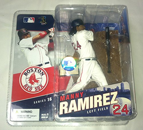 McFarlane Toys MLB Sports Picks Series 16 Action Figure Manny Ramirez (Boston Red Sox) Gray Jersey Variant ()