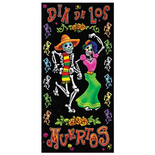 Day Of The Dead Party Decor (Day Of The Dead Door Cover Party Accessory (1 count) (1/Pkg))
