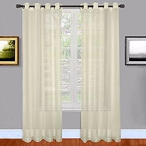 Warm Home Designs Light Beige Sheer Window