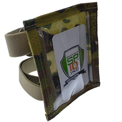 Specialist ID Ultimate - Soporte para tarjetas de identificación con pulsera militar, nailon resistente con dos bandas...