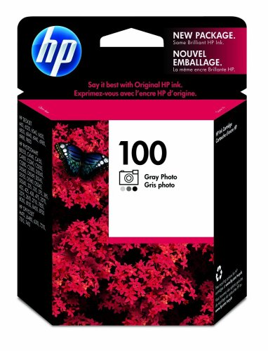 HP  C9368AN#140 100 Gray Photo Ink Cartridge in Retail Packaging, Office Central