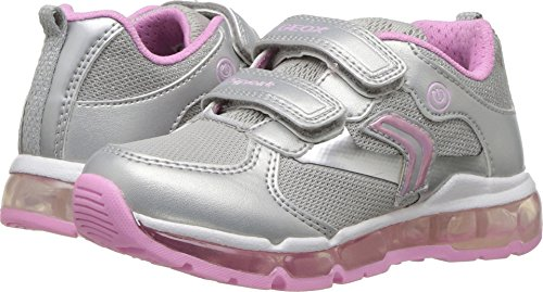 Geox Kids Baby Girl's Android 14 (Toddler/Little Kid) Silver/Pink 30 M (Silver Pink Footwear)