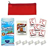 Public Toilet and Restroom Survival Kit, Toiletry Bag for Germ Protection, Flushable Wipes and Toilet Seat Covers, Compressed Towels