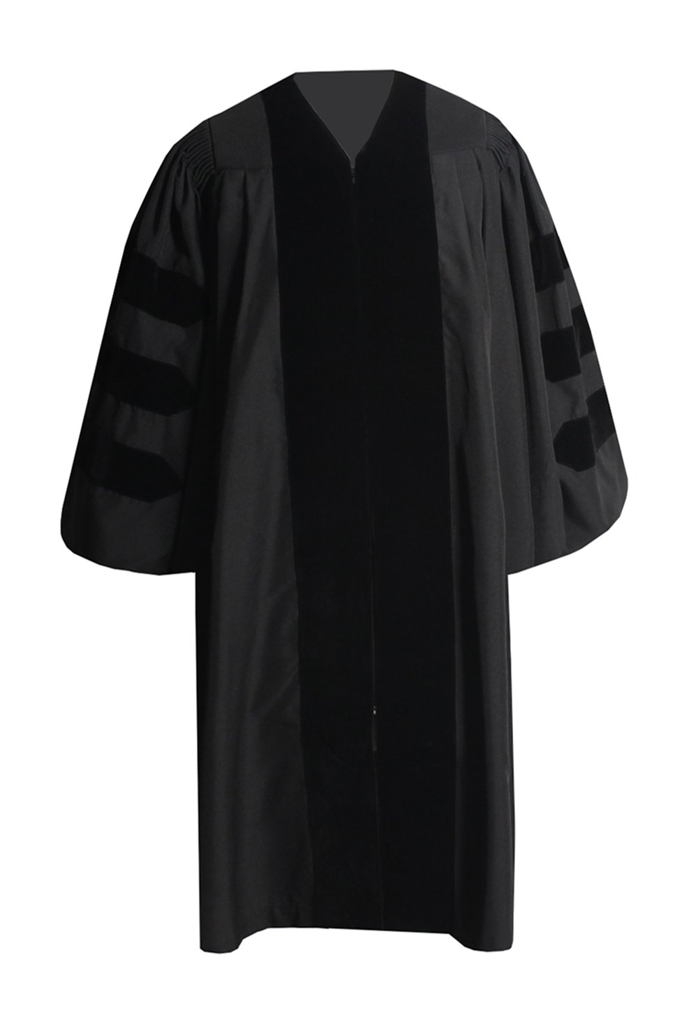 GraduationForYou Deluxe Doctoral Graduation Gown with Black Velvet
