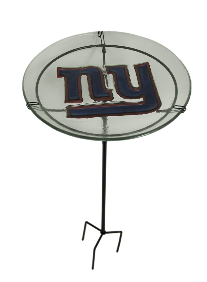 NFl Staked Bird Bath NFL Team: New York Giants