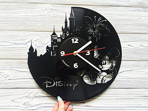 Disney Castle, Mickey Mouse & Minnie Mouse vinyl record wall