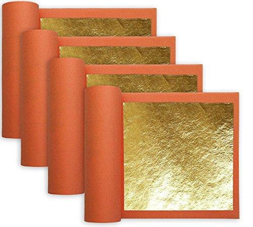 4 Books of Real 23k Gold Leaf 3-1/8