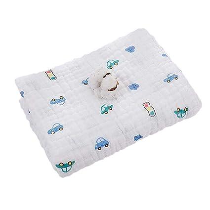 Huayue Toallitas para bebé Muslin Swaddle Blanket Toalla para recién nacido y baño 6 capas Toallitas