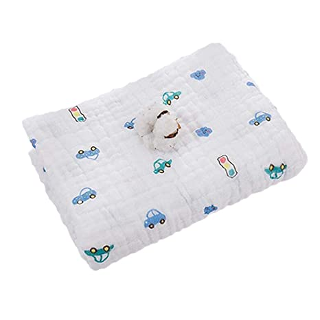 Kangcheng Toallitas para bebé y niños Muslin Swaddle Blanket Toalla para recién nacido y baño 6