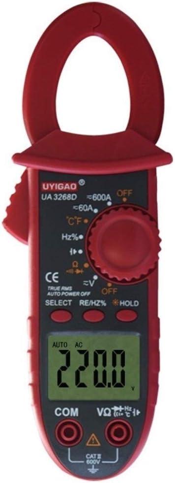 LONGJUAN-C Ohm UA3268D Ammeter Voltmeter Ohmmeter Diode Digital Clamp Meter Dual Leads Tools Clamp Meter