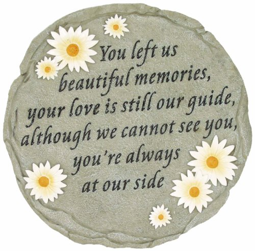 Spoontiques Beautiful Memories Step Stone (Words To Put On A Memorial Plaque)