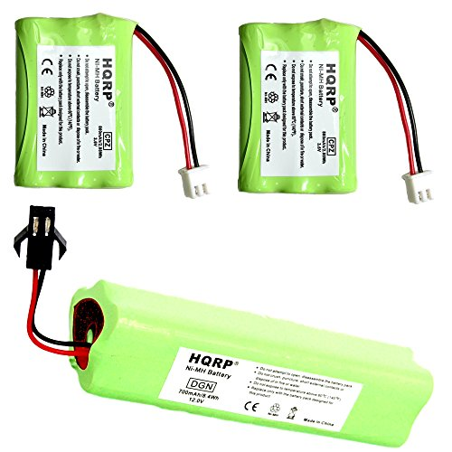 HQRP Battery Kit for Tri-tronics 1064000 DC-12 1038100 1107000, Classic 70, Trashbreaker Ultra XL, Beagler XL, Flyway Special XL Remote Controlled Dog Training Collar Receiver Transmitter + Coaster