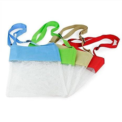 Amazon.com: Seashell playa – Bolsas de malla conjunto de 4 ...