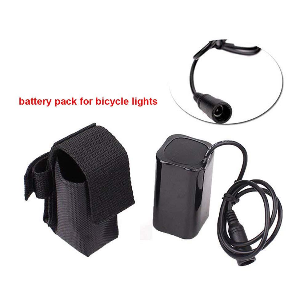 YEHOLDING Moto Luci LED Batteria Parti 4x18650 10400mAh 8.4V Per Fari Spotlight Bicycle Light MTB Light (Batteria Parti)