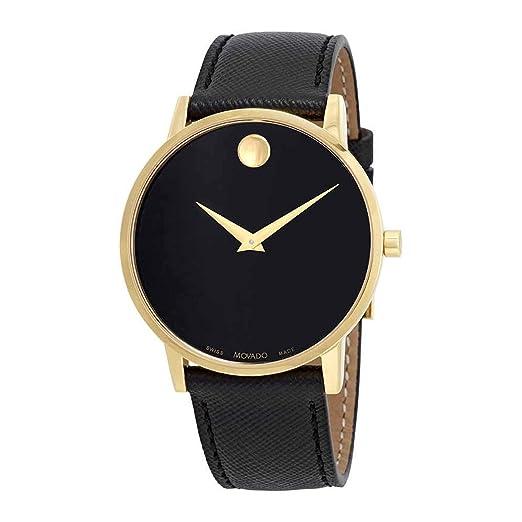 Movado Museum Classic Reloj de Hombre Cuarzo 40mm Correa de Cuero 0607195: Amazon.es: Relojes