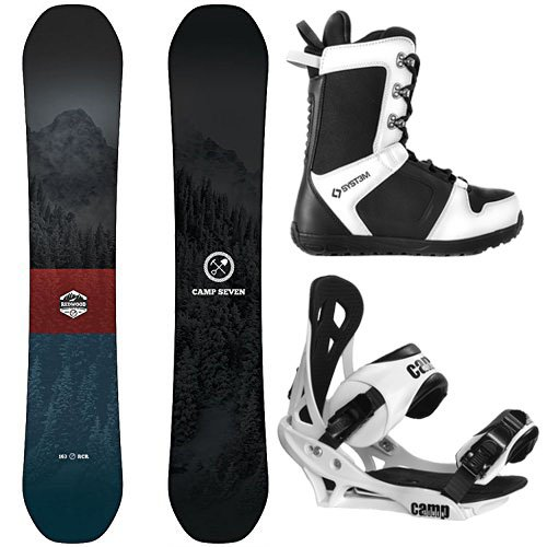 Camp Seven Redwood and Summit Men's Complete Snowboard Package New 2019