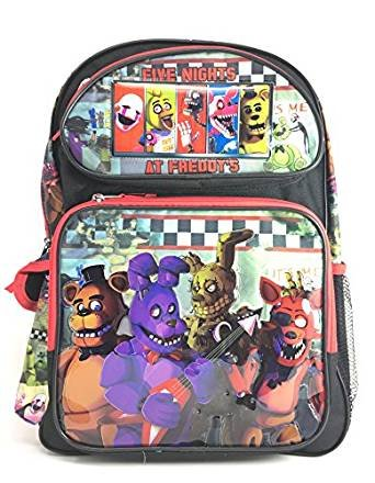 """Price comparison product image 2018 NEW Five Nights at Freddy's Foxy Bonnie Chica & Freddy Large 16"""" Backpack"""