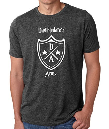 Ilion Clothing Co. Harry Potter Men's Dumbledore's Army T-Shirt (Large, Charcoal)