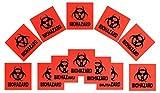 12-pack 4-inch DOT Stickers - Neon Orange Biohazard