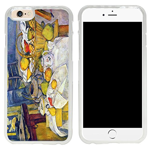 Rikki Knight Paul Cezanne Art Still Life with Fruit Basket Design iPhone 6 Case Cover-Clear
